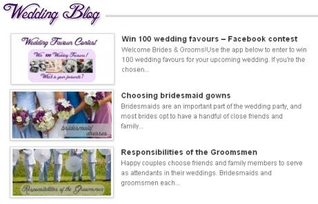Wedding Blog Posts