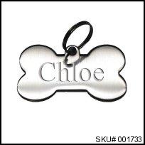 stainless steel bone pet tag