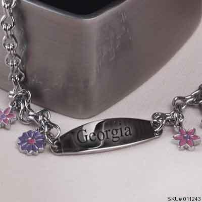 baby girls id bracelet