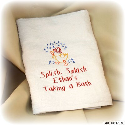 splish splash baby towel