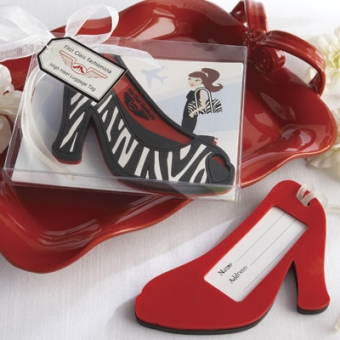 high heel luggage tag
