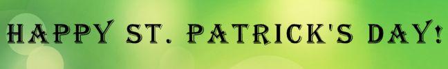 st patricks day banner