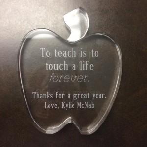 Kyle's gift for her teacher, Mrs. Z.