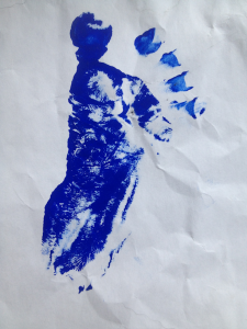 A picture of your baby's footprint.