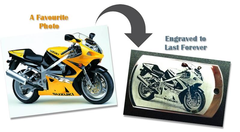 photo engraving bike example