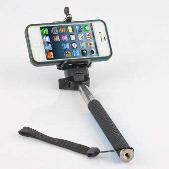selfie stick black with iphone