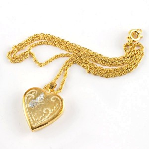 Gold Plated Butterfly Locket Necklace Things Engraved