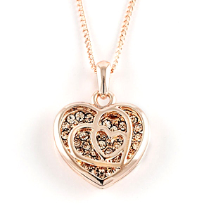 Genevieve First Blush Rose Gold Necklace Things Engraved