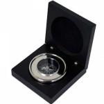 Chrome Compass in Black Presentation Box