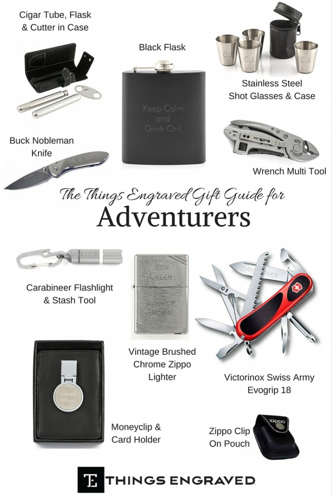 Things Engraved Gift Guide 2015 for Adventurers