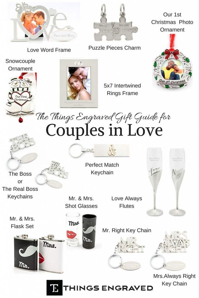 Things Engraved Gift Guide 2015 for the Couple in Love