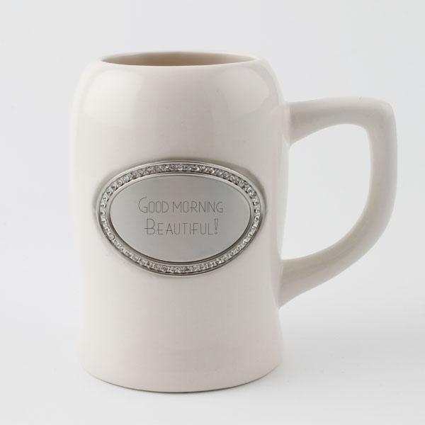 White Bling Ceramic Mug